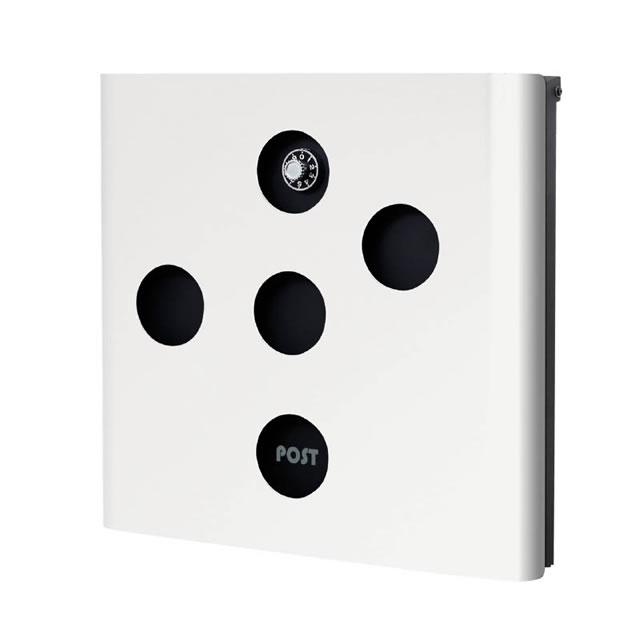 オンリーワン 郵便ポスト イル ヴァリオ イレギュラー NA1-IV05WH 壁掛タイプ ホワイト色 ダイヤル錠付き