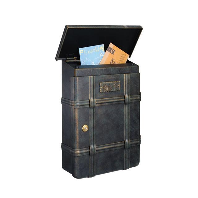 郵便ポスト オンリーワン ハイビポスト ノストA MA1-64391002D ダイヤル錠 ラスティブラウン