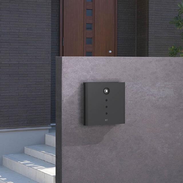 オンリーワン 郵便ポスト イル ヴァリオ Alfa アルファ NA1-IV04FC 壁掛タイプ フロストチャコールグレー色 ダイヤル錠付き