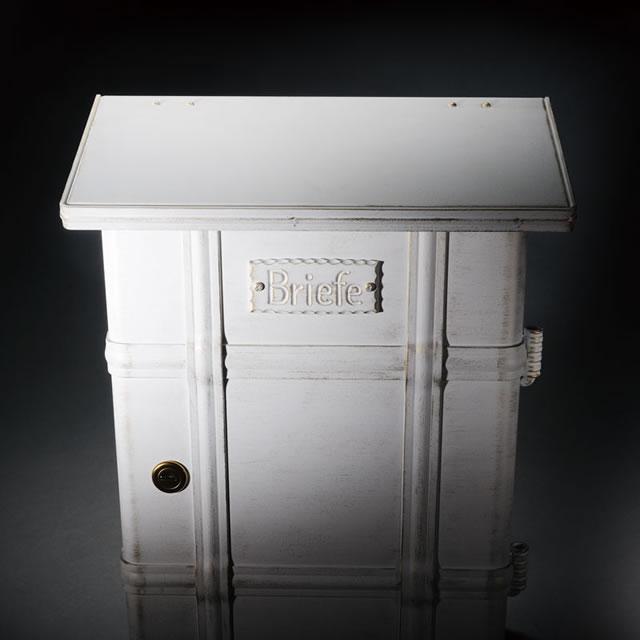 郵便ポスト オンリーワン ハイビポスト ノストA MA1-64391008D ダイヤル錠 ホワイト/ゴールド