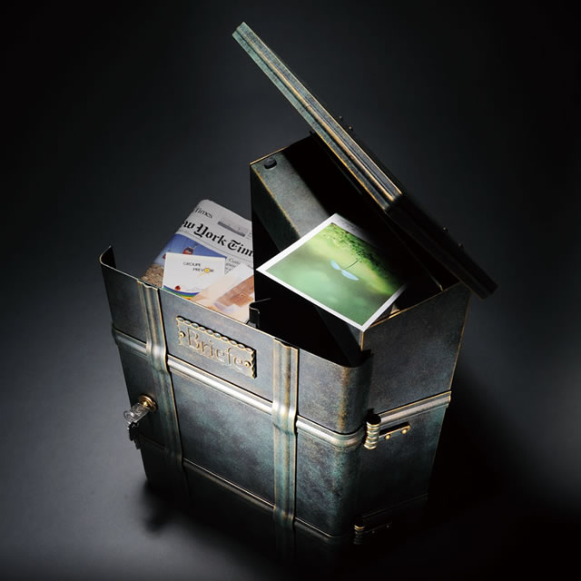 郵便ポスト オンリーワン ハイビポスト ノストA MA1-64391010 シリンダー錠 パティナグリーン