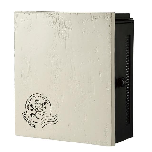 オンリーワン 郵便ポスト クーリエ スタンプ フラワー MY1-1836 アイボリー色 右扉仕様
