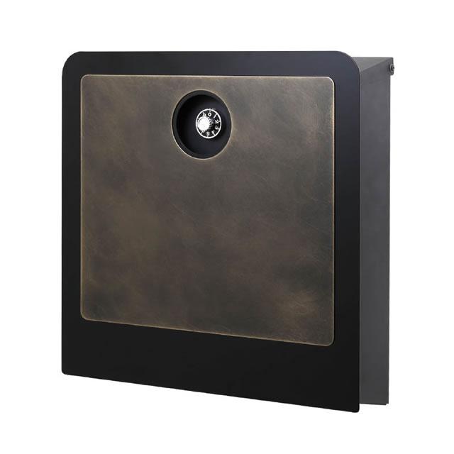 オンリーワン 郵便ポスト イル ヴァリオ ラミエラ NA1-IV28BS 壁掛タイプ 真鍮エイジング色 ダイヤル錠付き