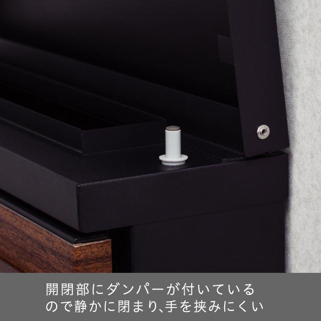 丸三タカギ スタイリッシュなフォルムのオシャレポスト STAPPO(スタッポ) サテンブラック(レザーレッド) STP-B-6