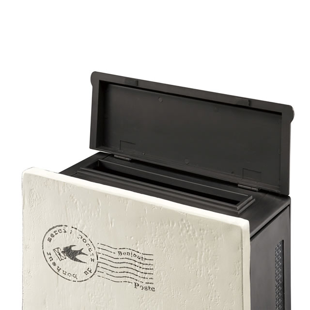 オンリーワン 郵便ポスト クーリエ スタンプ フラワー MY1-1837 アイボリー色 左扉仕様