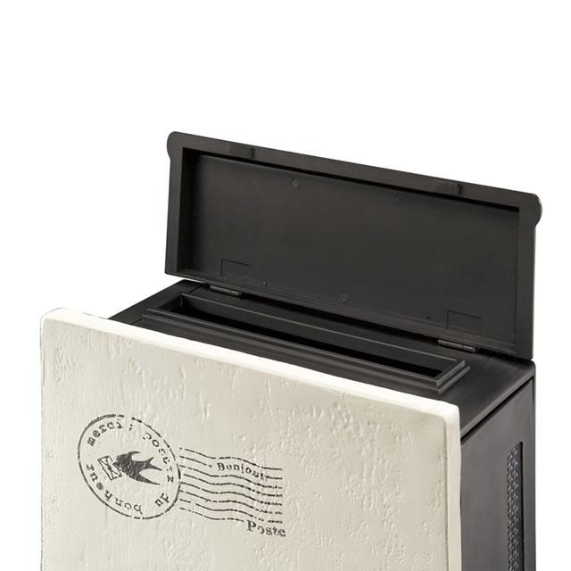 オンリーワン 郵便ポスト クーリエ リーフ MY1-1847 アイボリー色 左扉仕様