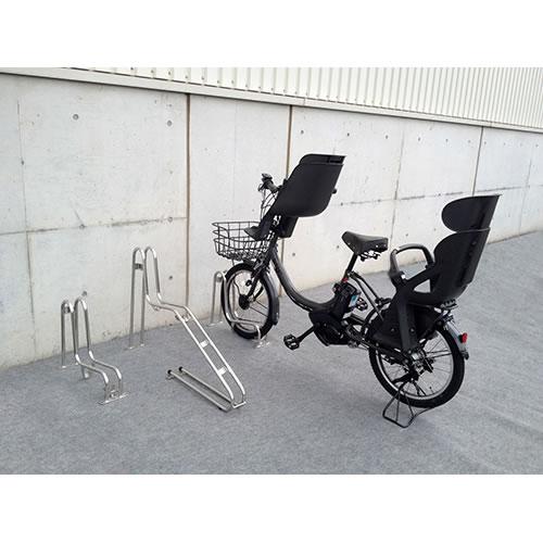 ダイケン 自転車ラック サイクルスタンド 独立式スタンド 1台用 スタンド低タイプ CS-GU1A-S ステンレス製