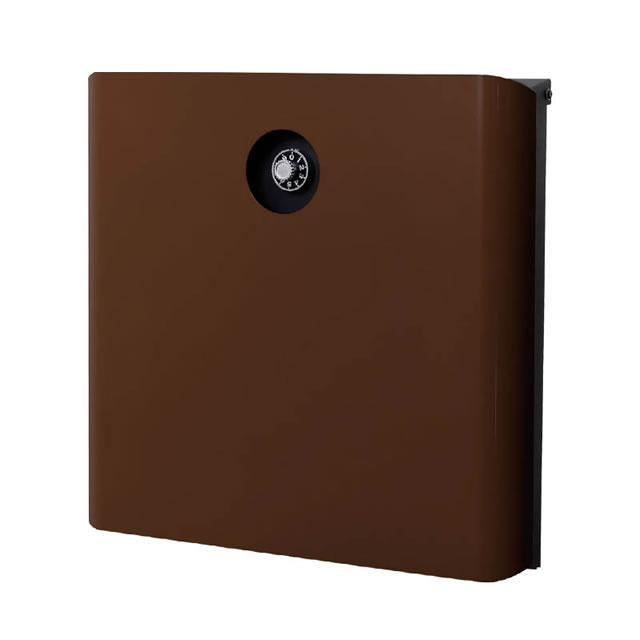 オンリーワン 郵便ポスト イル ヴァリオ マリエッタ NA1-IV01FB 壁掛タイプ フォレストブラウン色 ダイヤル錠付き