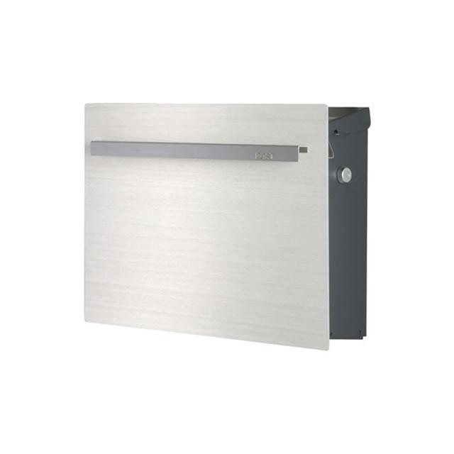 オンリーワン 郵便ポスト ノイエキューブ ウッド タモホワイト GM1-EZ504 壁掛け仕様 鍵付き