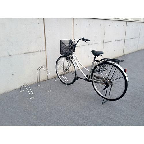 ダイケン 自転車ラック サイクルスタンド 独立式スタンド 1台用 スタンド大タイプ CS-MU1B-S ステンレス製