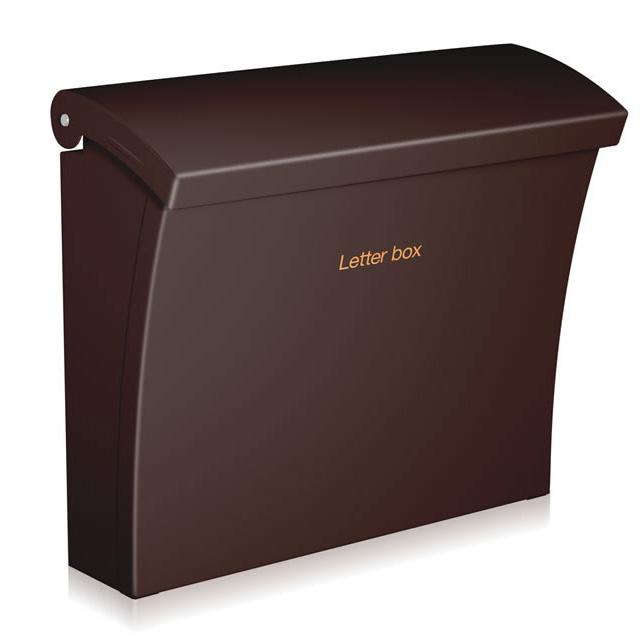 コーワソニア 郵便ポスト Luce ルーチェ ブラウン色 上入れ上出し 可変式ロック付き