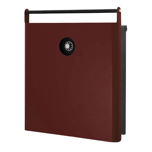 オンリーワン 郵便ポスト イル ヴァリオ ハンドバー NA1-IV22DR 壁掛タイプ ダルレッド色 ダイヤル錠付き