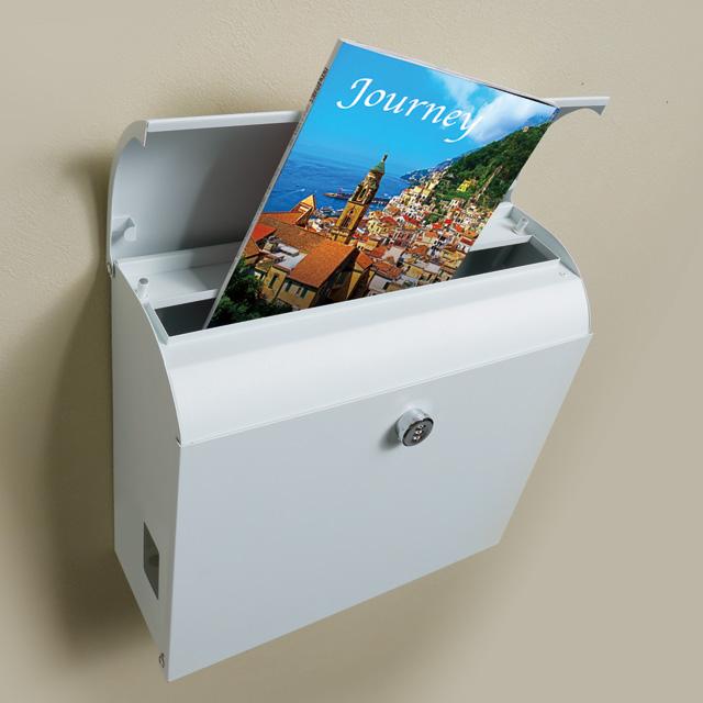 丸三タカギ メール便最大サイズが投函可能 大容量 郵便ポスト メルポーチ MLP ホワイト色 ダイヤル錠付き