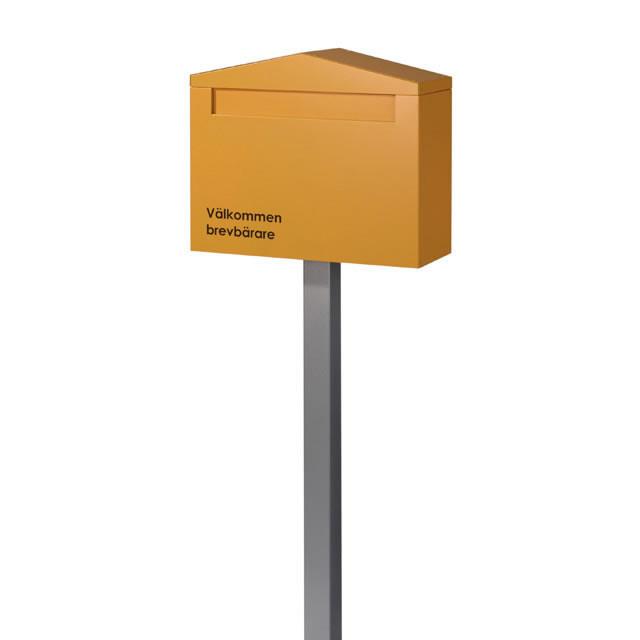 オンリーワン 郵便ポスト Nolan ノーラン シングル オレンジ色 前入れ・後出し KS1-B132O