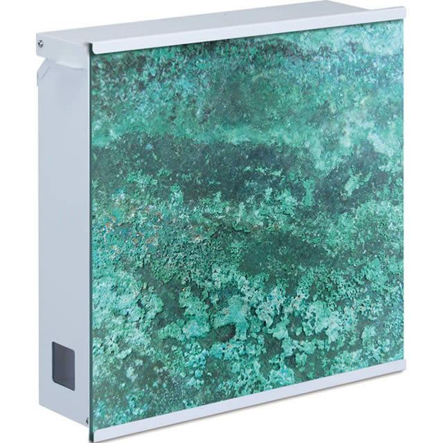丸三タカギ 郵便ポスト グラフィックポスト テクスチャータイプ NGP-1-ナシ 緑青色 ダイヤル錠付き