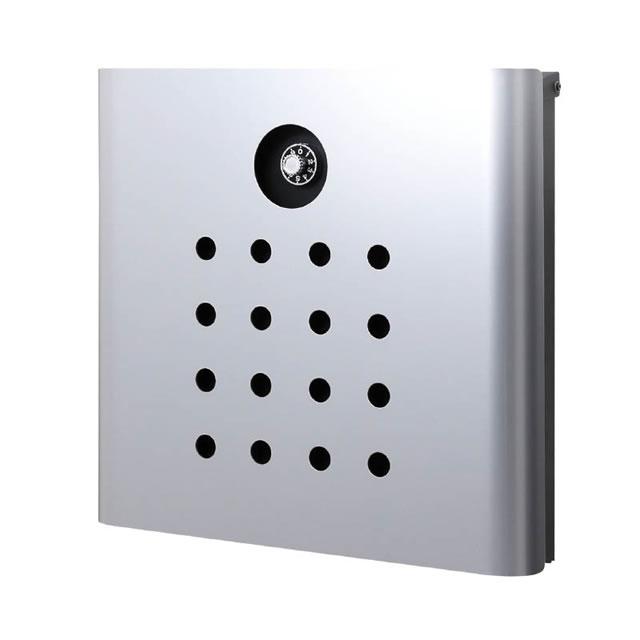 オンリーワン 郵便ポスト イル ヴァリオ Punch パンチ NA1-IV06SI 壁掛タイプ シルバー色 ダイヤル錠付き