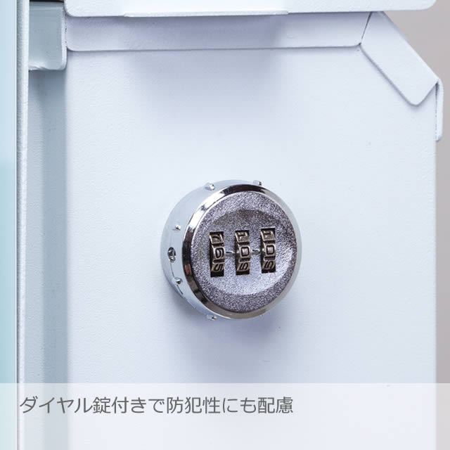 丸三タカギ 郵便ポスト グラフィックポスト テクスチャータイプ NGP-4-ナシ レンガ柄 ダイヤル錠付き