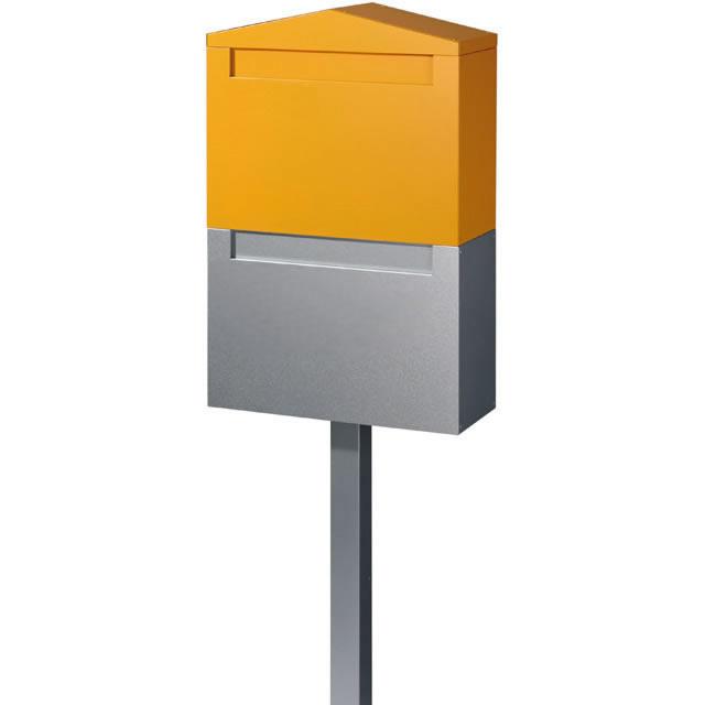 オンリーワン 郵便ポスト Nolan ノーラン ダブル オレンジ色 前入れ・後出し KS1-B133O