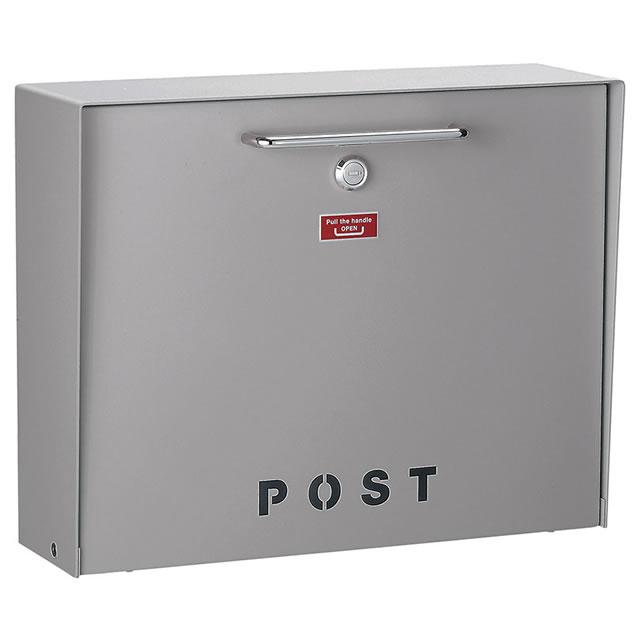 美濃クラフト 郵便ポスト Deturn デターン DETURN-AG アッシュグレー色 鍵付き