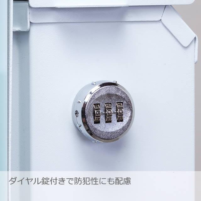 丸三タカギ 郵便ポスト SNOOPY スヌーピーポスト グラフィック NSPGP-B-ナシ ダイヤル錠付き