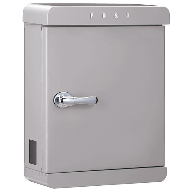 美濃クラフト 郵便ポスト PAST パスト PAST-AG アッシュグレー色 鍵付き