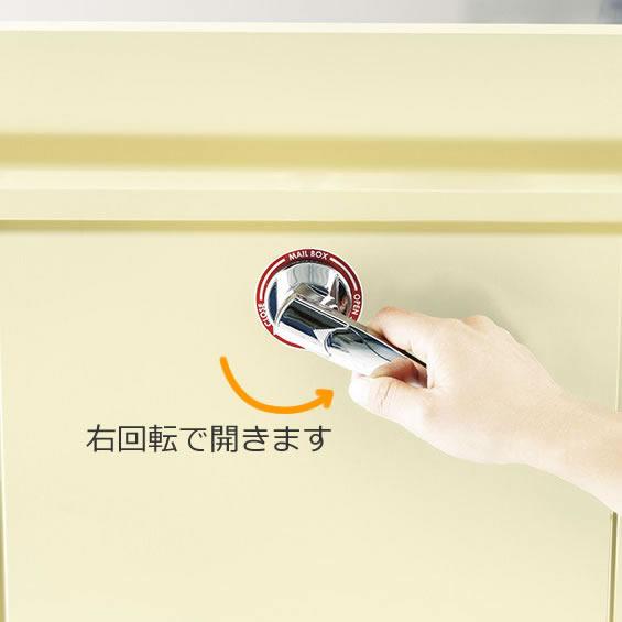 美濃クラフト 郵便ポスト POMO ポモ EMK-POMO-AG アッシュグレー色 鍵付き