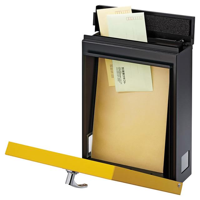 美濃クラフト 郵便ポスト LEAP リープ LEAP-SY サンイエロー色 鍵付き