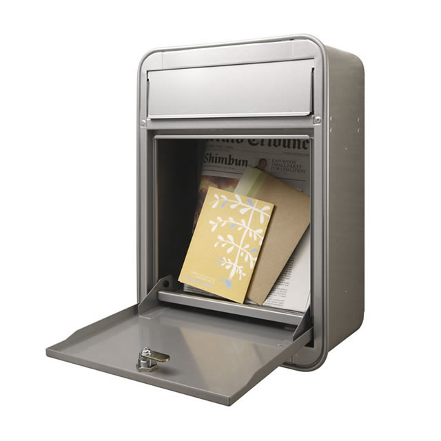 オンリーワン 郵便ポスト MILK ミルク ブラウン色 前入れ・前出し GM1-E10-113