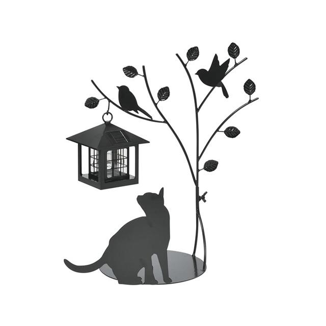 セトクラフト 猫シルエットの愛らしい動き シルエットソーラー(Tree&Cat) SI-1954-900