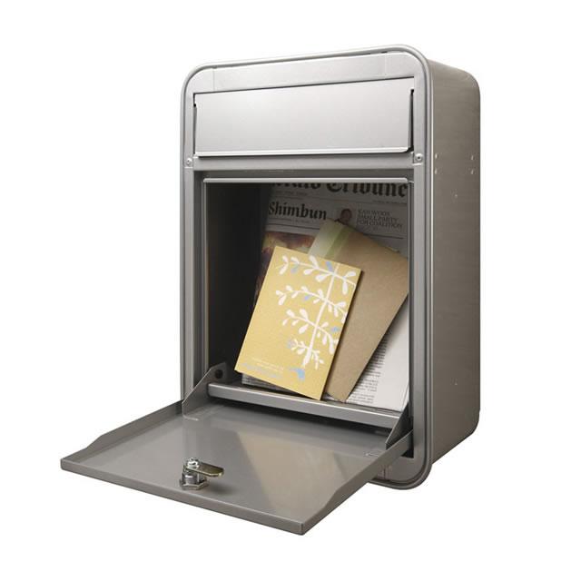 オンリーワン 郵便ポスト MILK ミルク ブラック色 前入れ・前出し GM1-E10-114