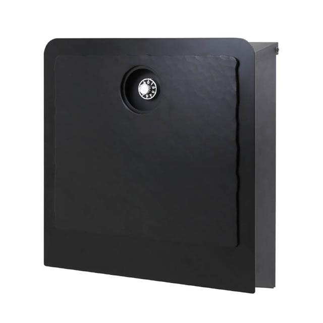 オンリーワン 郵便ポスト イル ヴァリオ ラミエラ NA1-IV28BM 壁掛タイプ ブラックマット色 ダイヤル錠付き