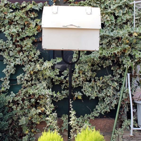 オンリーワン 郵便ポスト アルトヴァイス・メールボックス SR1-AWM2 ミルキーホワイト塗装+エイジング 鍵無し