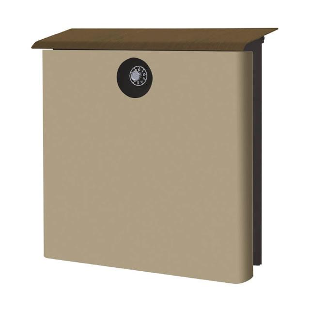 オンリーワン 郵便ポスト イル ヴァリオ House ハウス NA1-IV21LA 壁掛タイプ ラテ色 ダイヤル錠付き