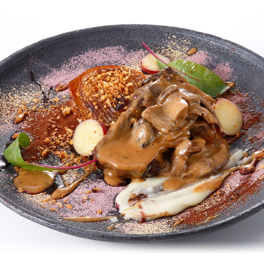 宮田シェフの牛タンの塩麹煮込み きのこのマディラクリームソース【冷凍配送】