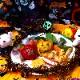 パプリカハンバーグ 2個セット【ハロウィン限定商品】【送料無料】【冷凍配送】簡単セッティング♪ 映えるおうちパーティー! シェフ手作りのハロウィン限定料理 ※10月20日以降のお届け 限定25個