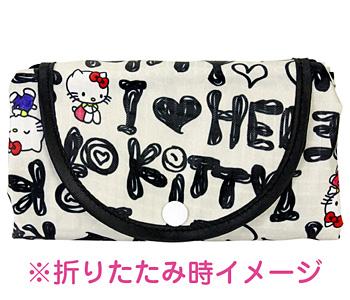 HelloKitty×AMONNLISA ポケッタブルエコバッグ レッドリボンズ BK HKECO-003