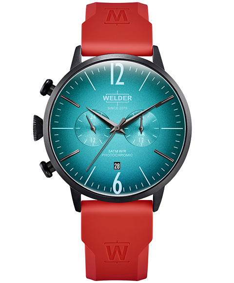 MOODY DUAL TIME 45MM RUBBER STRAP WWRC521
