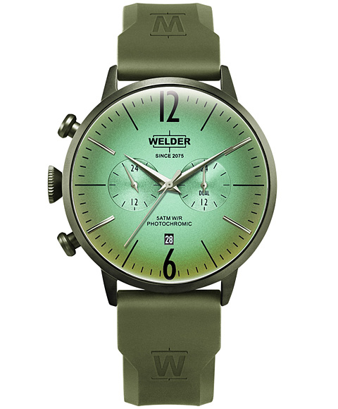 MOODY DUAL TIME 45MM RUBBER STRAP WWRC519