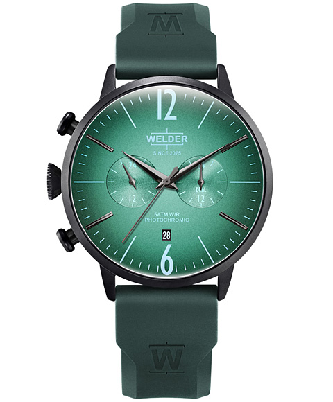 MOODY DUAL TIME 45MM RUBBER STRAP WWRC517