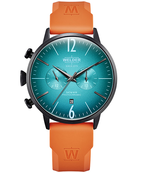MOODY DUAL TIME 45MM RUBBER STRAP WWRC515