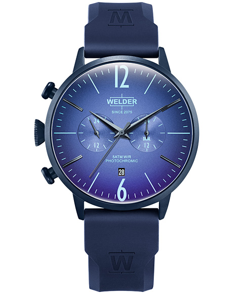 MOODY DUAL TIME 45MM RUBBER STRAP WWRC513