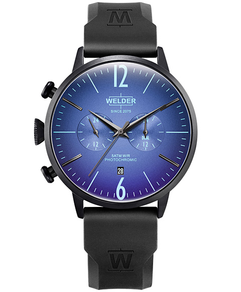 MOODY DUAL TIME 45MM RUBBER STRAP WWRC511
