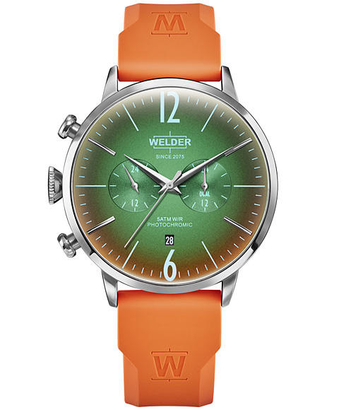 MOODY DUAL TIME 45MM RUBBER STRAP WWRC516