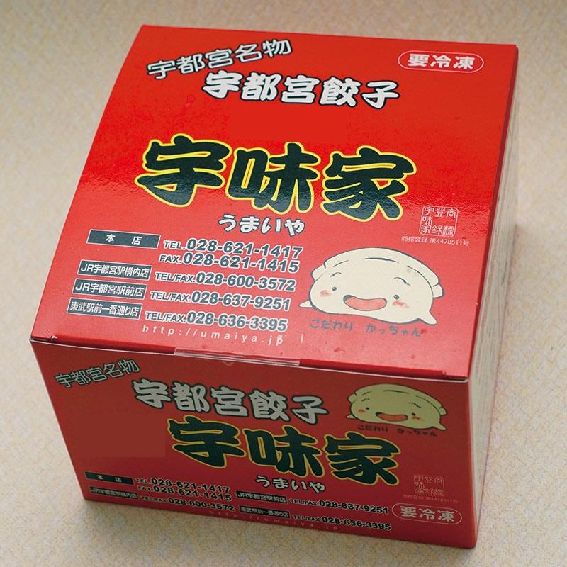 宇味家 宇都宮餃子 20個入×2箱 送料無料(北海道・沖縄・離島は除く)