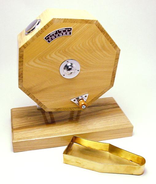 木製福引回転抽選器 小 32cm 手回し口 高級SHINKO製