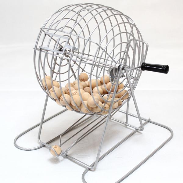 ビンゴ 木製玉タイプ メタルフレーム