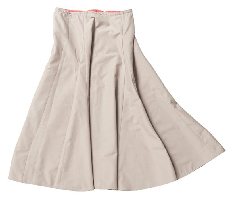 超軽量フレアスカート(ミモレ丈) ベージュ レディース 紫外線対策
