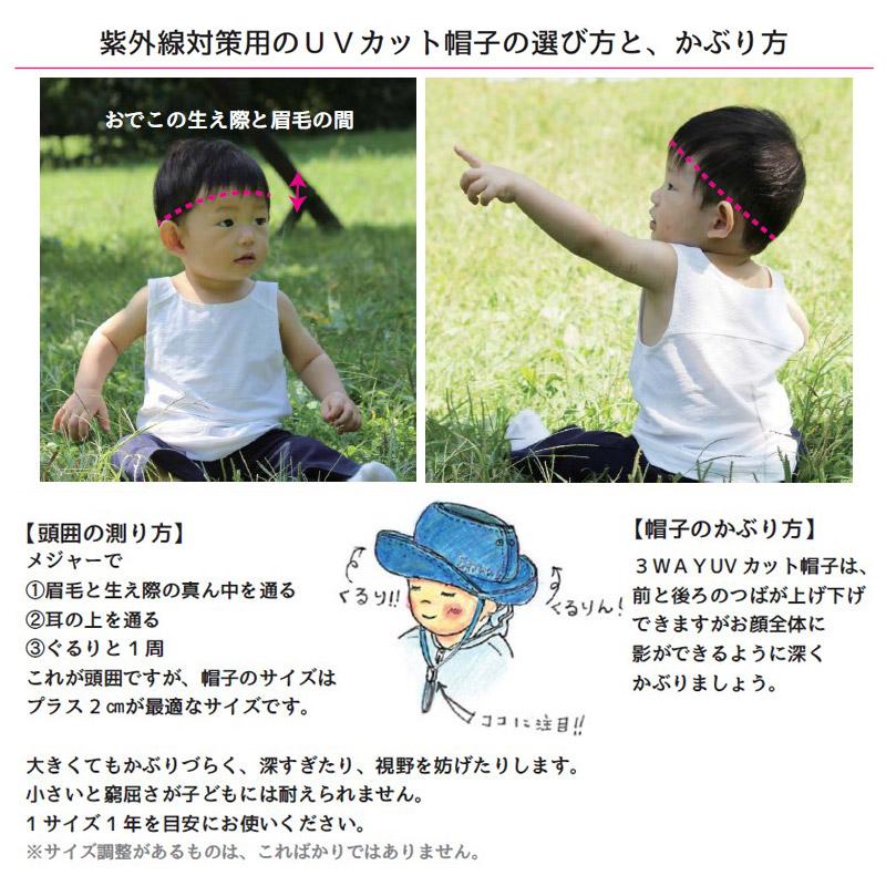 エアスルーUVハット カモフラ柄 ベビー~子供