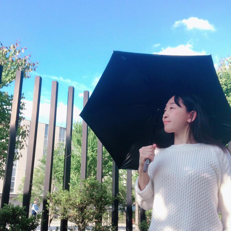 ゼロアンド/晴雨兼用折りたたみ自動開閉日傘 ネイビー