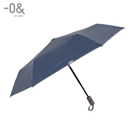 ゼロアンド/晴雨兼用折りたたみ自動開閉日傘 デニム